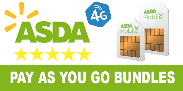 ASDA Mobile Pay As You Go Bundles
