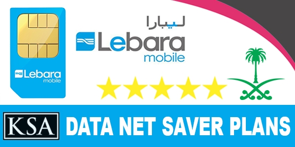 Lebara Mobile KSA Data Net Saver Plans