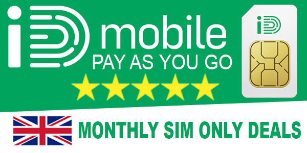 ID Mobile Pay Monthly SIM Only Deals