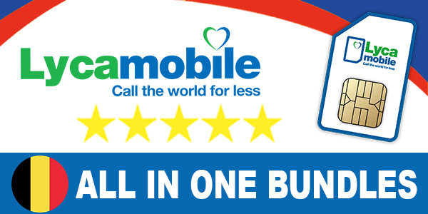 Lycamobile Belgium All In One Bundles
