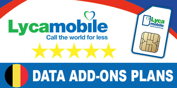 Lycamobile Belgium Data Bolt-On Plans