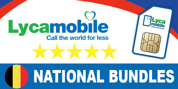 Lycamobile Belgium National Bundles