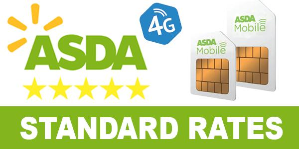 ASDA Mobile call sms and data Rates
