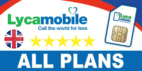 Lycamobile UK All Plans
