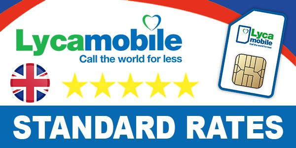 Lycamobile UK Call rates