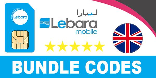 Lebara Mobile UK Bundle Codes