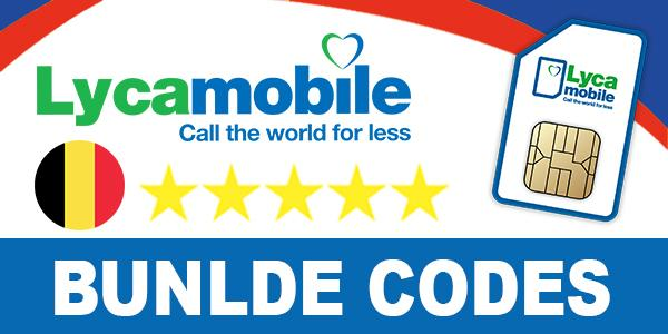 Lycamobile Belgium bundle codes