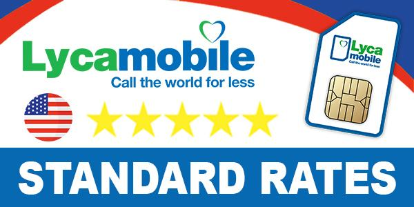 Lycamobile USA Call & Sms Rates